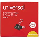 Universal Small Binder Clips Black/Silver, 144 Each (10200VP)