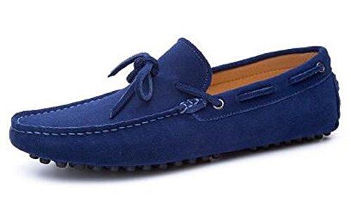 Happyshop Hombres Casual Gamuza De Cuero De La Borla Slip-on Mocasines Conducción Mochilas Del Coche Zapatos De Barco Al Aire Libre Azul Oscuro