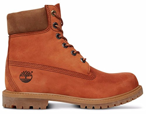 a18nu Womens Orangebraun Dark Bottes Premium Timberland 6 Inch q4wgcUa