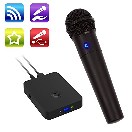 Cobble Pro Wireless Karaoke Microphone [Source Vocal Removal Technology][Choose Unlimited Music Source from YouTube, Compatible with iPhone iPad Smartphone Tablet] New Model Speaker Machine Kid Adult