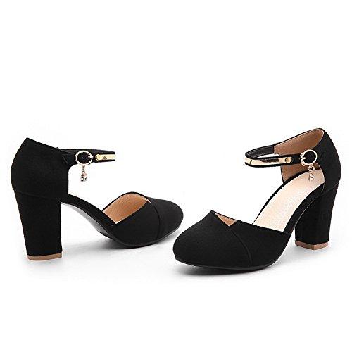 5 Compensées Noir Femme 1TO9 EU Sandales Noir 36 S8YwA7qA