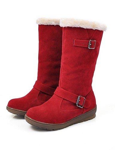 Eu39 us8 Eu36 Zapatos Uk6 Trabajo Plataforma Brown De Semicuero us6 Cn36 Xzz Marrón Punta Mujer Redonda Brown Botas Cn39 Rojo Uk4 Casual Vestido Oficina Y Nieve UqTvvgndw