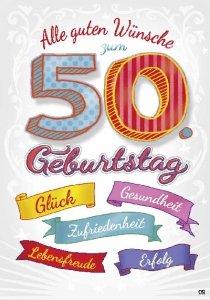 Musikkarten Mit Sound Uberraschung 009a Zum 50 Geburtstag Amazon