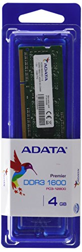 ADATA AD3S1600W4G11-S Memoria RAM 4GB, SO-DIMM, DDR3-1600Mhz, PC3-12800, Serie Premier