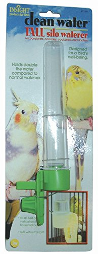 Clean Jw Water Pet (JW Pet Company Clean Water Silo Waterer Bird Accessory, Tall (Colors Vary))