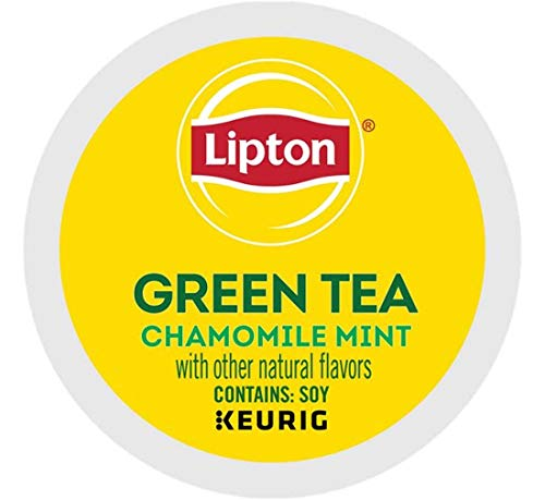 Keurig Tea and Ice Tea Pods K-Cups 18/22 / 24 Count Capsules ALL BRANDS/FLAVORS (Twinings/Chai/Celestial/Lipton/Tazo/Diet Snapple) (24 Pods Soothe Green Tea with Chamomile/Mint) -  Globalpixels