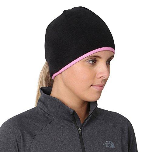 TrailHeads Womens Running Ponytail Hat - Black/Fast Pink