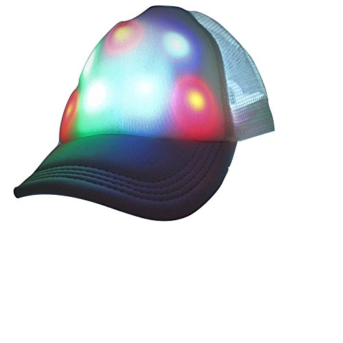 [LED HAT- Light Up Baseball Hat Glow Party Cap Fashion Rave/Hunting hat] (Baseball Catcher Halloween Costume)