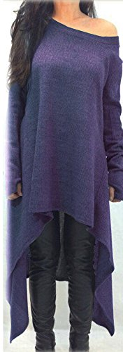Women's Dress Xuan2Xuan3 Top Long Oversized Purple Sleeve Casual Shirt dqfzwRq