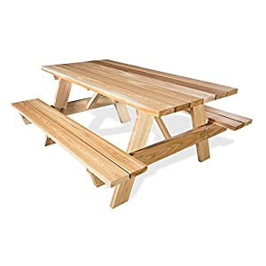 All Things Cedar 6' Picnic Table with Attached Benches