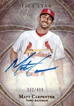 (2014 Topps Five Star #FSA-MCA Matt Carpenter Certified Autograph Baseball Card - Only 499)
