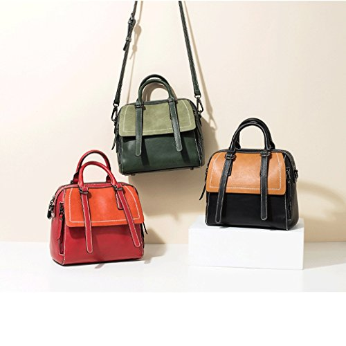 Color Ms Leather PU Bag Bag Shoulder Messenger C JIUTE Messenger B Vintage Lady's Twvw1qd