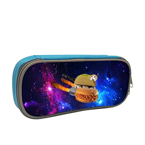 Pencil Case,Funny Rocket Burger Sandwich Cat Creative 3D Printed Hard Pen Bag Hard Holder for Executive Fountain Pen and Stylus Touch Pen