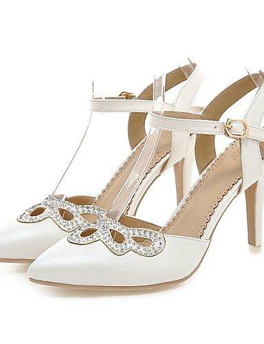 LFNLYX Zapatos de mujer-Tacón Stiletto-Cuñas / Tacones / Comfort / Innovador / Puntiagudos / Botas a la Moda / Zapatos y Bolsos a Juego- White