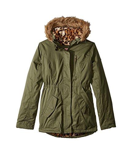 - Urban Republic Kids Girl's Cotton Twill Jacket W/Fur Trim (Little Kids/Big Kids) Olive 14
