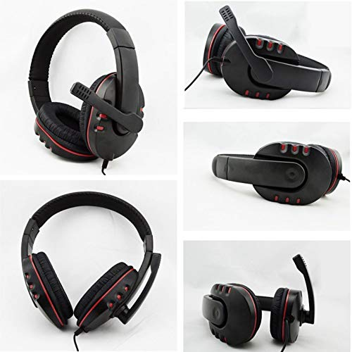 Wired 3.5mm Headset Headphone Earphone Music Microphone For PS4 Game PC Chat