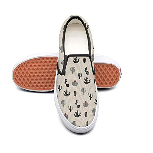 Sernfinjdr Women's Mini Desert Cactus Queen Painting Fashion Casual Canvas Slip Slip Canvas on Shoes Fashion Golf Sneaker... B07H5HNYZJ Shoes e3da90