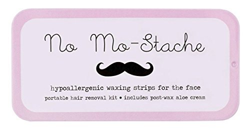 No Mo-Stache Portable Hair Removal Kit - As Seen On Shark Tank (40 Single Strips, No Mo-Stache)