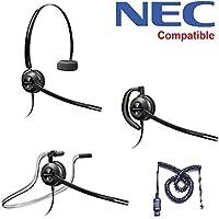 NEC Compatible Plantronics EncorePro 540 Headset Bundle - NEC Elite | Dterm Series i | Dterm IP | Dterm Elite | Series E | DSX | Aspire | NEC i-Series | Dterm Series III | Univerge | DT300 | DT700