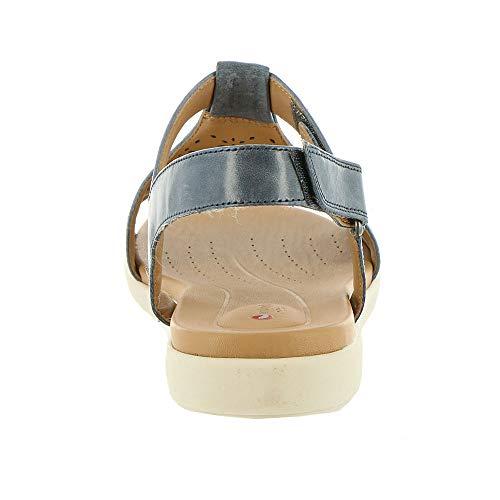 De Clarks Leather Piso navy Sandalias Talla Mujeres Azul Marino E6q6rSw
