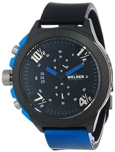 Welder K33 9302 - Reloj analógico unisex de cuarzo con correa de goma negra - sumergible a 100 metros