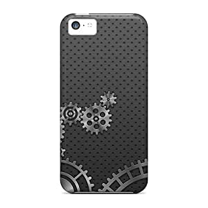 DeannaTodd Snap On Hard Cases Covers Metal Cogs Protector For Iphone 5c