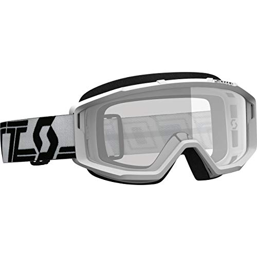 Scott Primal Clear wit/zwarte Motorcross Goggles
