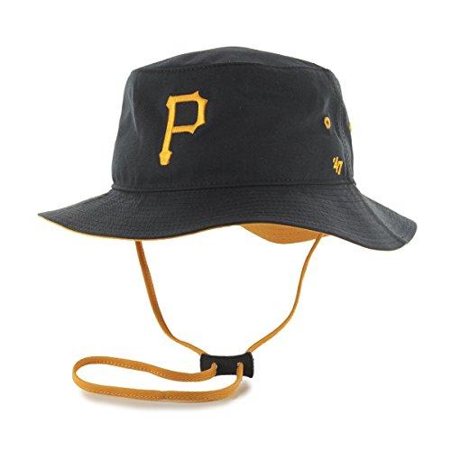 MLB Pittsburgh Pirates Kirby Bucket Hat, One Size, Black (Pirates Hats)