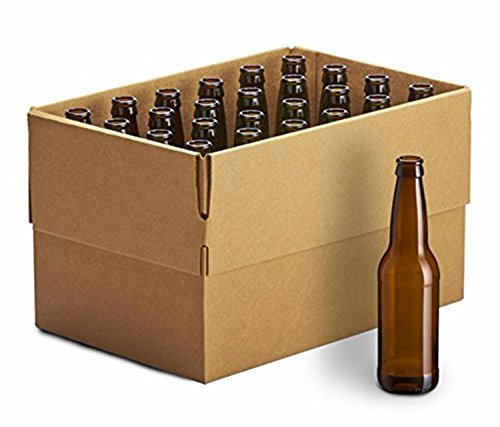 Monster Brew Home Brewing Supplies 24 Pack Amber Long Neck Bottles, 12oz - set of 2