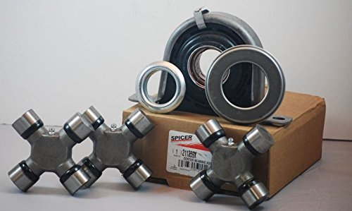 Ford F250 F350 Superduty 4x4 Driveshaft Carrier Bearing and U Joint -