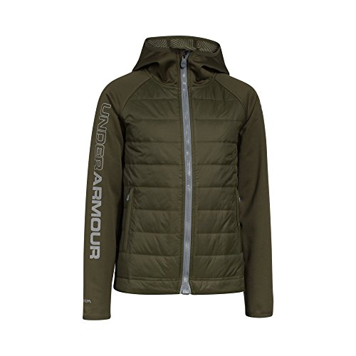 Under Armour Boys' Storm ColdGear Infrared Werewolf Jacket, Greenhead/Steel, Youth Small by Under Armour