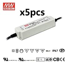 5pieces Mean Well LPF-60D-36 AC/DC POWER SUPPLY Dimmable LED DRIVER 36V 60W 1.7A CLASS2