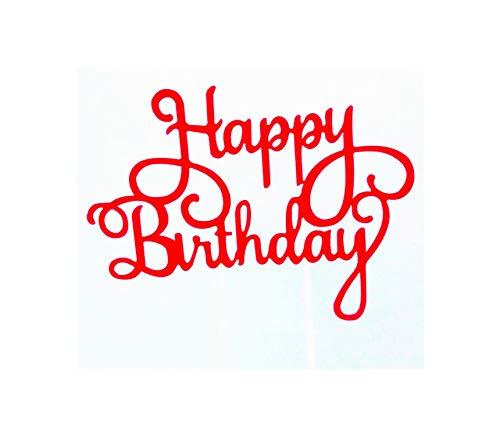 Cupcake Princess Birthday Party Decorations Adult One Cake Wedding Boy Party Decoration Party,Red A005 Cake Flag -