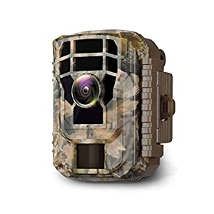 Flashandfocus.com 41ZidGRPPKL._SS300_ Campark Mini Trail Camera 16MP 1080P HD Game Camera Waterproof Wildlife Scouting Hunting Cam with 120° Wide Angle Lens…