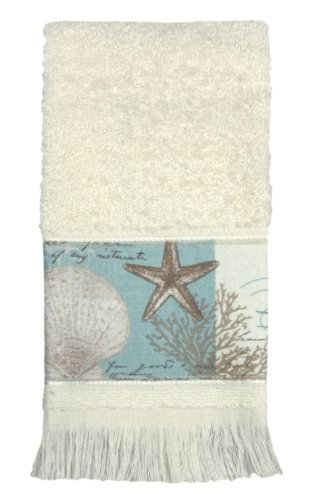"Bacova Guild ""Coastal Moonlight"" Cotton Terry Fingertip Towe"