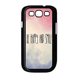 Be Happy And Smile DIY Cover Case for Samsung Galaxy S3 I9300, DIY Be Happy And Smile Cell Phone Case