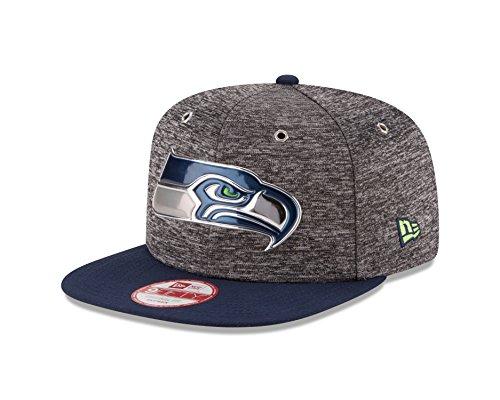 New Era NFL Seattle Seahawks 2016 Draft 9Fifty Snapback Cap, One Size, Heather Gray - Nfl Draft Cap