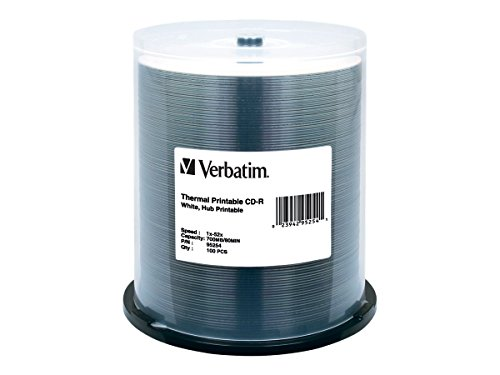 Verbatim CD-R 700MB 52X White Thermal Hub Printable Recordab