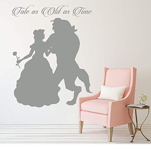 Princess Belle Wall Decal - Beauty and the Beast Theme Bedroom Decor - Tale As Old As Time