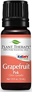 Plant Therapy Grapefruit Pink Essential Oil 10 mL (1/3 oz) 100% Pure, Undiluted, Therapeutic Grade