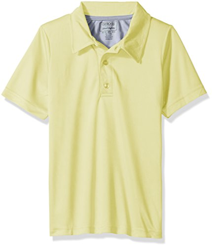 Yellow Uniform (Cherokee Big Boys Uniform Short Sleeve Performance Polo, Light Yellow, 8)