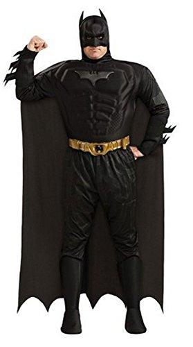 [Batman DC Comics The Dark Knight Rises Muscle Chest Deluxe Adult Plus Costume] (Plus Size Batman Costumes)