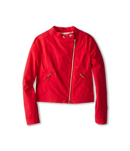Juicy Couture Kids Girl's Brushed Twill Jacket, Side Zip Poppy Red Size 7 by Juicy Couture