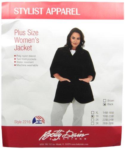 A Size Above Plus Size Salon Stylist Jacket, Black,1X