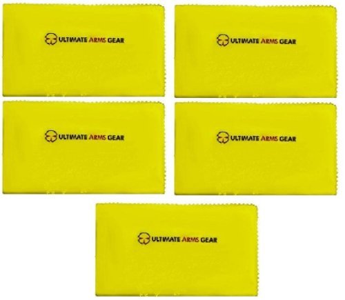"""Ultimate Arms Gear Pack of 5 Rifle/Shotgun/Pistol/Gun Care and Reel Silicone Lubricated Cleaning Cloth 12"""" x 14"""""""
