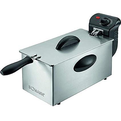 Freidora eléctrica de acero inoxidable fría zonas fritura freído. Oel Capacidad Aprox. 3 litros (2000 W de alto rendimiento + extraíble fettbehälter): ...
