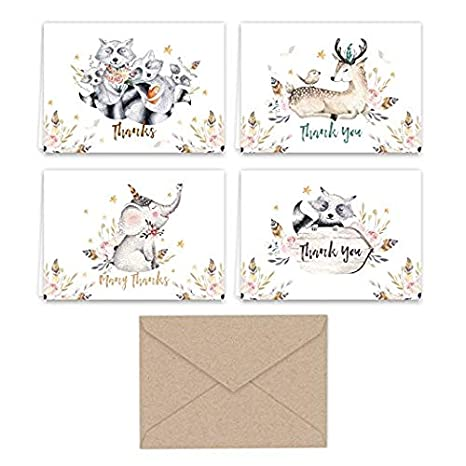 Woodland Animal Cards ANY 30 CARDS