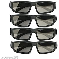 FidgetFidget 4PCS IMAX Glasses Passive Polarized 3D Glasses for RealD Cinema Samsung FPR TV