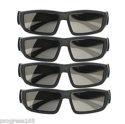 FidgetFidget 4PCS IMAX Glasses Passive Polarized 3D Glasses for RealD Cinema Samsung FPR TV