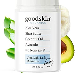Organic Face Moisturizer for Women and Men - Natural Hydrating Day & Night Face Cream for Dry & Oily Skin - Non-Greasy & Gentle Moisturizer for Face Anti-Wrinkle Anti Aging Skin Care Products by Goodskin-1.7oz